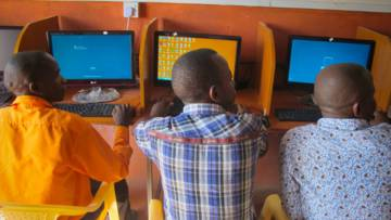 CAFOD has helped young people in Kenya set up a solar-powered IT centre