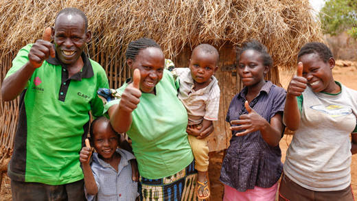 Stella and her family in Kitui