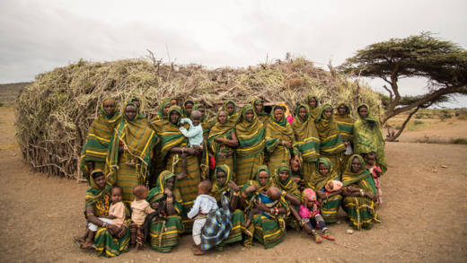 The Mudhe Women's Group. They wear green as a symbol of unity with each other and their environment.