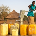 could start a fund to build a pump in a remote community