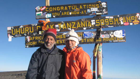 CAFOD supporters from the Arundel and Brighton diocese reach the top of Uhuru Peak (Kilimanjaro)