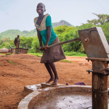 Proscovia now has a clean water supply in her village, giving new hope to her family.
