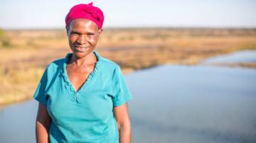 Florence from Zambia received business training from a CAFOD partner