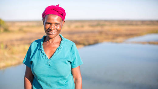 CAFOD's Lent Appeal focuses on Florence from Zambia who was given training in fish farming and business skills.