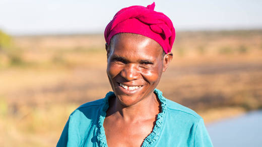 Florence from Zambia received fish from a CAFOD partner