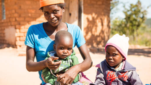 CAFOD partners in Zimbabwe are helping Pardon who is two years old and showing signs of malnutrition