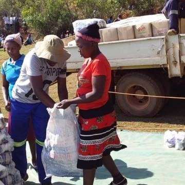 Food distribution in Chipinge Ward, in the diocese of Mutare, Zimbabwe.