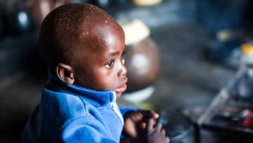 Svondo is Marian's younger son. Thanks to donations to CAFOD, he will grow up with a healthier diet than his brother.