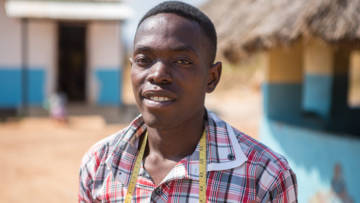 Patrick teaches tailoring in a centre that aims to support people in the district who are living with disabilities.