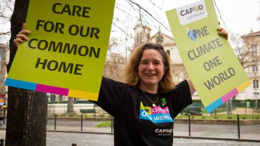 Marine was inspired by Laudato Si' to travel to Paris for the UN climate talks