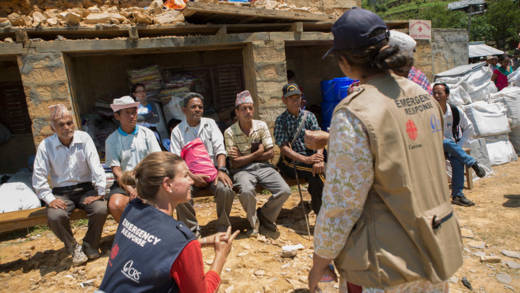 CAFOD partner assessing the situation after the Nepal earthquake