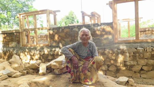 CAFOD's partner Caritas Nepal has helped 80-year-old Krishna Kumari rebuild her home after it was reduced to rubble by the April 2015 earthquake.