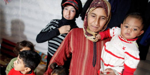 Three million Syrians have been displaced by the conflict
