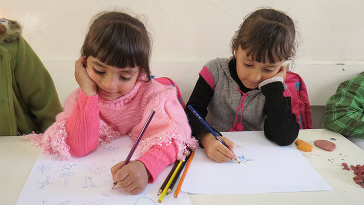 syrian children drawing
