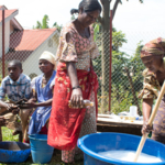 can help local experts to train women in soap making or other activities