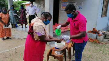 Food and hygiene packages have been distributed to women-headed households