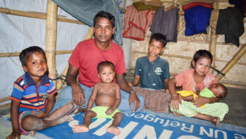 Azizul has six children and worries about them washing properly and playing outside in the crowded Rohingya camps.