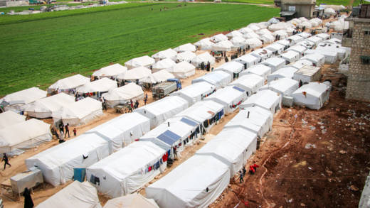 A lack of water and hygiene facilities in overcrowded camps means coronavirus could quickly be transmitted across northwest Syria.
