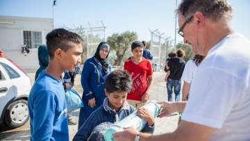 CAFOD partner Caritas Hellas has been delivering aid to refugees on Lesbos and elsewhere in Greece