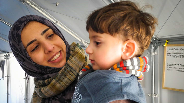 A mother and child from Syria