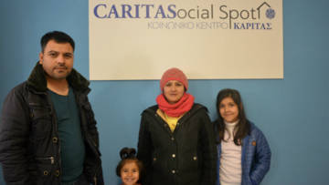 Murtaza, a refugee from Afghanistan, lives a new life with his family in Greece supported by CAFOD's partner Caritas Hellas.