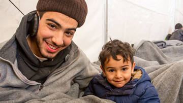 Two brothers from Syria who travelled for 20 days to reach Idomeni, Greece.