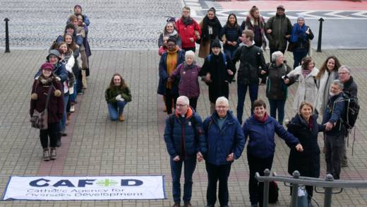 Campaigners at COP24 spell out 1.5