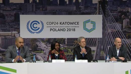 CAFOD's Director of Advocacy Neil Thorns chairs a Holy See press conference at COP24