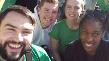 CAFOD young volunteers in Fatima, Portugal