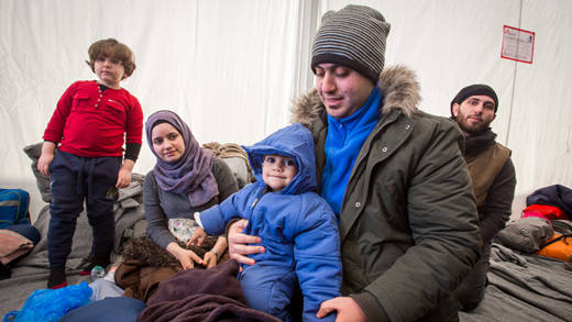 family of 3 from Syria