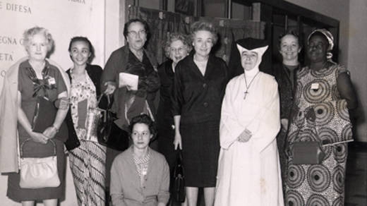 The Catholic women who organised the first Family Fast Day in 1960 to support CAFOD's first partner, Sister Alicia who ran the mother-and-baby clinic in Dominica.