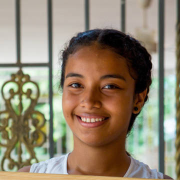 Rosana, 15, is a student at San Pablo Secondary School.