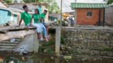CAFOD partner run group in Colombia encouraging young people to raise awareness and act to clean their creek - Dona Josefa.