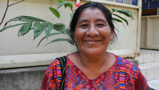 Juana is a local leader in Guatemala who supports women to speak out against violence.