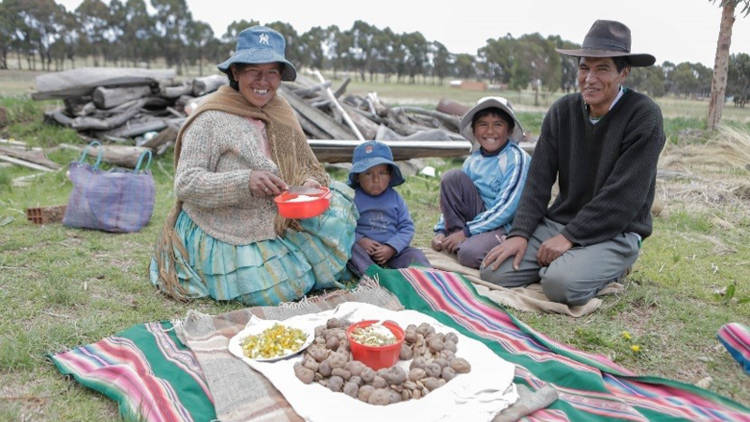 Our Hands On project will help families in Bolivia, like Jhonny's, to grow more food.