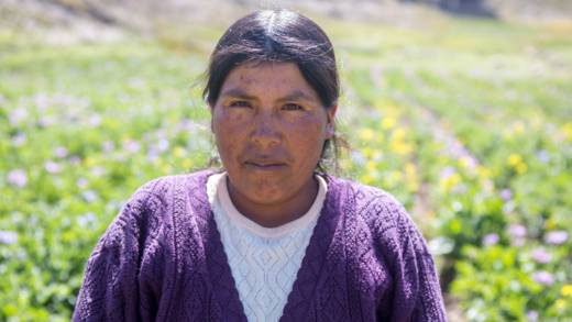 Nicanora from the Altiplano, Bolivia, who will be working with the CAFOD Hands On project