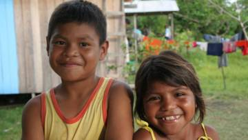 Indigenous children in Brazil