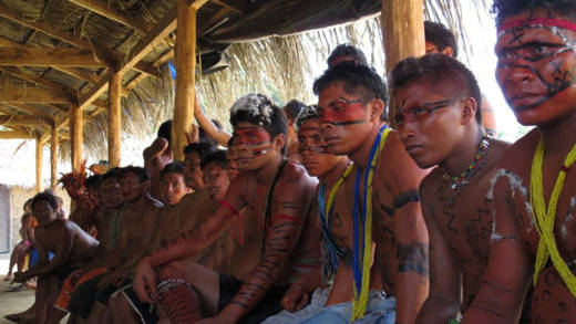 Working with the Hutukara Yanomami association, communities from the Ajarani region of the Amazon campaign against the illegal invasion of indigenous lands by large scale farmers.