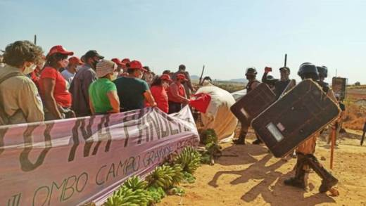 Landless families in Quilombo Campo Grande are being evicted