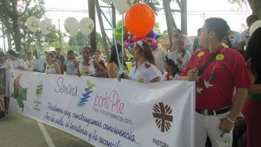 A peace carnival in the Diocese of Granada