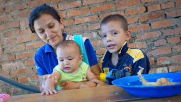 Iuri is one of thousands of refugees in Colombia who have fled from Venezuela because food is too expensive