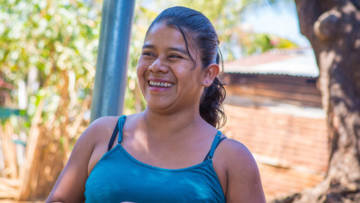 Edelmira is improving her family's diet and income with the support of our church partner Solidarity CVX.