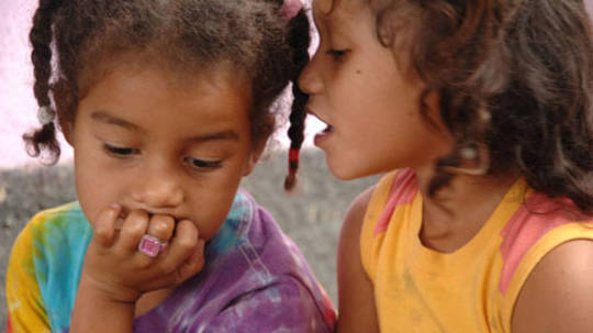 Elena & Maira are from a village in Honduras that was forced to relocate to make way for a goldmine