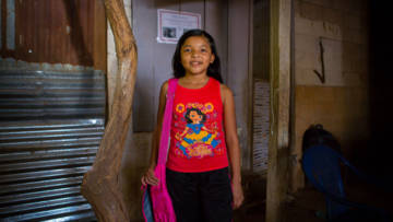 Jacqueline from El Salvador, who features in Harvest resources for schools