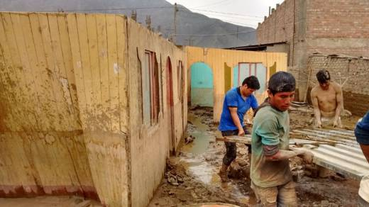 Thousands of homes have been destroyed by flooding in Peru.