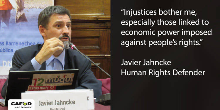 Javier Jahncke is a human rights defender from Peru