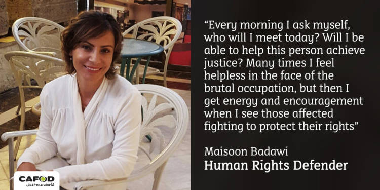 Maisoon Badawi - human rights defender - occupied Palestinian territory