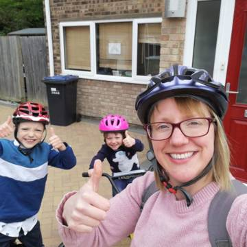 Alice and family took on a challenge to run, walk, cycle and scoot for CAFOD!