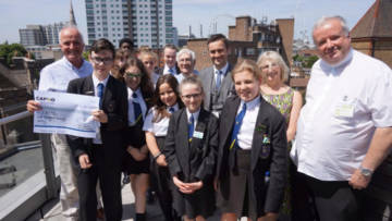 Pupils from the Holy Family College, Rochdale, who have helped to raise more than £40,000 for CAFOD since beginning their group in 1976.