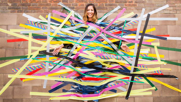 Tape a teacher to a wall to raise money this Harvest.